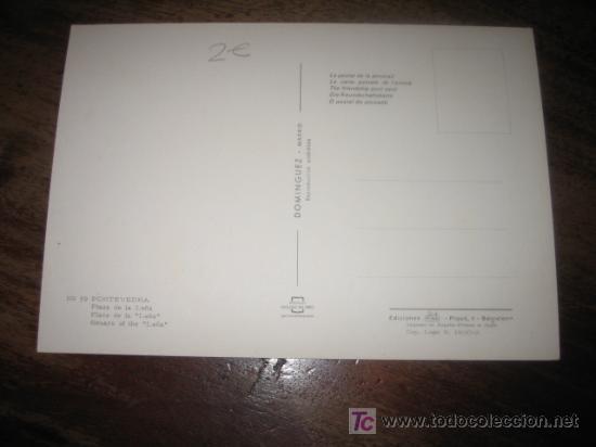 Postales: PONTEVEDRA PLAZA DE LA LEÑA - Foto 2 - 7449675