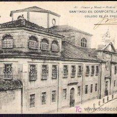 Postales: TARJETA POSTAL DE SANTIAGO DE COMPOSTELA Nº 481. COLEGIO DE LA ENSEÑANZA. HAUSER Y MENET.. Lote 12026949