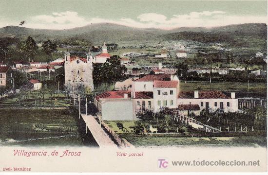 VILLAGARCIA DE AROSA.VISTA PARCIAL. FOTO MARTINEZ. NO CIRCULADA. (Postales - España - Galicia Antigua (hasta 1939))