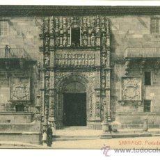 Postales: SANTIAGO, PORTADA DEL HOSPITAL. Lote 8097008