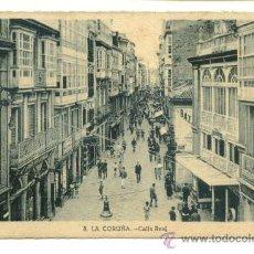 Postales: LA CORUÑA, CALLE REAL. Lote 8097167