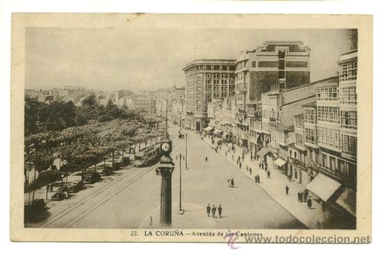 LA CORUÑA, AVENIDA DE LOS CANTONES (Postales - España - Galicia Moderna (desde 1940))