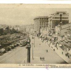 Postales: LA CORUÑA, AVENIDA DE LOS CANTONES. Lote 8097195