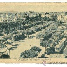 Postales: LA CORUÑA, LA ALAMEDA Y LOS CANTONES. Lote 8097258