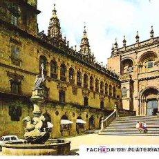 Postales: 3229 SABTIAGO DE COMPOSTELA *** FACHADA DE PLATERIAS *** POSTAELS FAMA. Lote 8290262