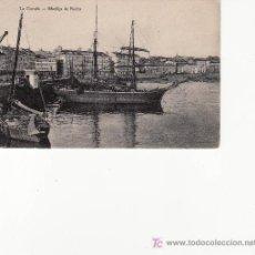 Postales: LA CORUÑA. MUELLES DE PIEDRA. POSTAL DE PAPELERIA LOMBARDERO. CIRCULADA.. Lote 24101699