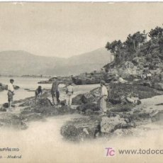 Postales: VIGO, PLAYA DE ESPIÑEIRO, HAUSER Y MENET CIRCULADA ,ANTERIOR A 1905. Lote 24930937