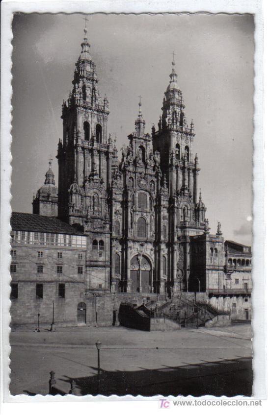 20 SANTIAGO DE COMPOSTELA . CATEDRAL, FACHADA PRINCIPAL. (Postales - España - Galicia Moderna (desde 1940))