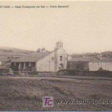 Postales: SANTIAGO. REAL COLEGIATA DE SAR. VISTA GENERAL. (EDIT. VARELA). . Lote 9021118