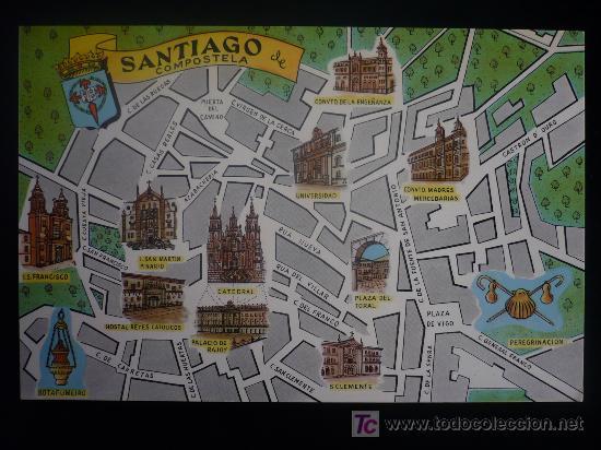 Callejero Mapa De Santiago De Compostela.Plano Callejero Santiago De Compostela Fres Vendido En