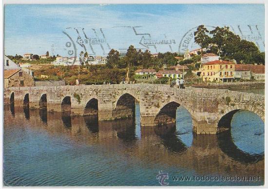 TARJETA POSTAL DE LA RAMALLOSA PUENTE ROMANO PONTEVEDRA (Postales - España - Galicia Moderna (desde 1940))