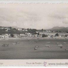 Postales: TARJETA POSTAL DE VIGO PLAYA DE PANJON PONTEVEDRA. Lote 9522484