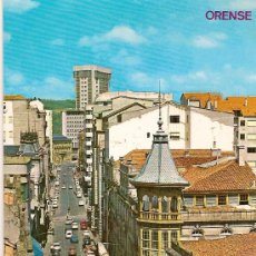 Postales: POSTAL A COLOR Nº 67 ORENSE AVDA DE JOSE ANTONIO. Lote 9662377