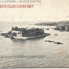 Postales: TARJETA POSTAL DE LA CORUÑA 3ª SERIE Nº 12 CASTILLO SANTA CRUZ. FERRER. Lote 13432870