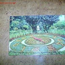 Postales: RELOJ FLORAL- LA CORUÑA 1970- GALICIA. Lote 11516717