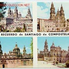 Postales: RECUERDO DE SANTIAGO DE COMPOSTELA. LA CORUÑA. GALICIA. Lote 1908034