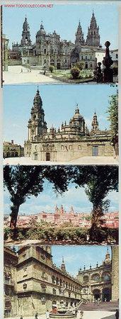 TIRA DE 10 POSTALES DE SANTIAGO DE COMPOSTELA. AÑOS 60 (Postales - España - Galicia Moderna (desde 1940))