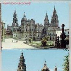 Postales: TIRA DE 10 POSTALES DE SANTIAGO DE COMPOSTELA. AÑOS 60. Lote 2096472