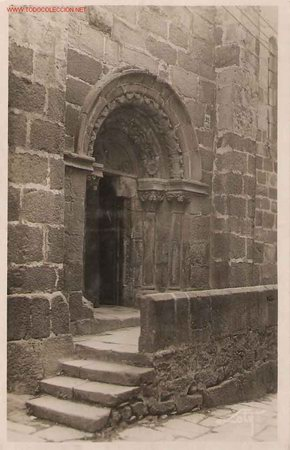 POSTAL LA CORUÑA. IGLESIA DE SANTIAGO, PUERTA LATERAL (Postales - España - Galicia Antigua (hasta 1939))
