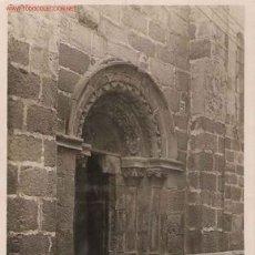 Postales: POSTAL LA CORUÑA. IGLESIA DE SANTIAGO, PUERTA LATERAL. Lote 22198268