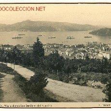 Postales: TARJETA POSTAL DE VIGO, Nº 11. VISTA DESDE LOS JARDINES DEL CASTRO. FOTO L. ROISIN. Lote 5710759