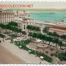 Postais: LA CORUÑA. VISTA BAHIA Y HOTEL EMBAJADOR. ED. LUJO. EN BLANCO Y NEGRO COLOREADA. ESCRITA. Lote 2913415