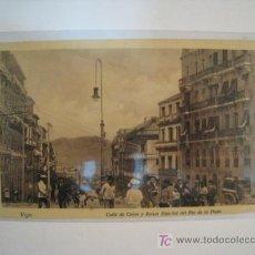 Postales: POSTAL VIGO: CALLE COLON Y BANCO RIO DE LA PLATA. Lote 9804391