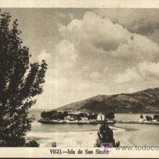 Postales: VIGO - ISLA DE SAN SIMÓN. HUECOGRABADO FOURNIER. Lote 195390260