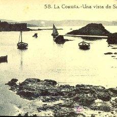Postales: TARJETA POSTAL DE LA CORUÑA. UNA VISTA DE SANTA CRUZ. Lote 23670699