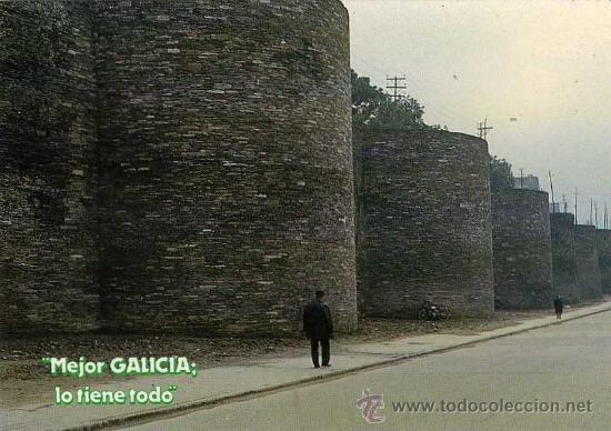 POSTAL LUGO MURALLAS ROMANAS (Postales - España - Galicia Moderna (desde 1940))