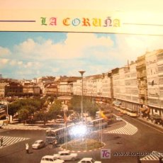 Postales: LA CORUÑA, CRISTALERAS Y PUERTA REAL. Lote 11645566