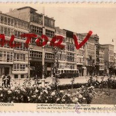 Postales: ANTIGUA POSTAL 316 LA CORUÑA JARDINES DE MENDEZ NUÑEZ Y LA MARINA FOTO L ROISIN. Lote 12010118