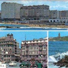 Postales: CORUÑA - 22 PLAYA DE RIAZOR Y CANTONES DE JOSÉ ANTONIO. Lote 12115068