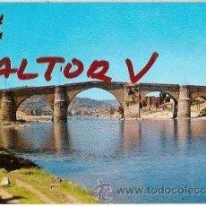 Postales: POSTAL A COLOR 9 ORENSE PUENTE ROMANO SOBRE EL MIÑO FOTO VILLAR. Lote 12247476