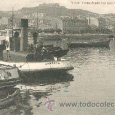 Postales: VIGO: VISTA DESDE LOS NUEVOS MUELLES – EUGENIO B. TETILLA. VIGO – FOTOTIPIA DE HAUSER YMENET.. Lote 22919471
