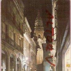 Postales: POSTAL A COLOR 2070 SANTIAGO COMPOSTELA RUA DEL VILLAR NOCTURNA ED ARRIBAS CIRCULADA . Lote 12367307