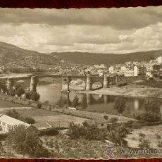 Postales: ANTIGUA FOTO POSTAL DE ORENSE - RIO MIÑO - ED. GARCIA GARRABELLA - CIRCULADA - CON DESPERFECTOS.. Lote 195361113