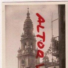 Postales: ANTIGUA POSTAL SANTIAGO COMPOSTELA CATEDRAL PUERTA SANTA TORRE RELOJ INFONAL. Lote 12619144