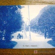 Postales: POSTAL ANTIGUA GALICIA VIGO. ALAMEDA. GRAFOS Nº33. . Lote 26809651