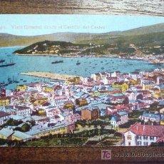 Postales: POSTAL ANTIGUA GALICIA VIGO. VISTA GENERAL DESDE EL CASTILLO DEL CASTRO. EDICIÓN J. BUCETA. . Lote 26809652