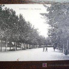 Postales: POSTAL ANTIGUA GALICIA SANTIAGO. LA ALAMEDA. E.J.G. PARÍS- IRÚN. . Lote 26969487
