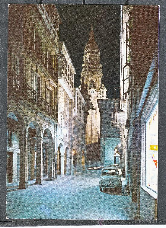 2.070. SANTIAGO COMPOSTELA. RUA DEL VILLAR. NOCTURNA (Postales - España - Galicia Moderna (desde 1940))