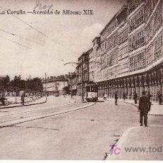 Postales: LA CORUÑA.AV.DE ALFONSO XIII.CON TRANVIA.EXPENDEDURIA DE TABACOS A.SANCHEZ.CIRCULADA EN 1928. Lote 22823513