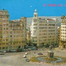 Cartes Postales: EL FERROL DEL CAUDILLO.PLAZA DE ESPAÑA Y MONUMENTO A FRANCO. Lote 14214479