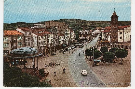BETANZOS - LA CORUÑA - PLAZA HNS GARCIA NAVEIRA - Nº 2007 -AÑOS 1964 - ESCRITA (Postales - España - Galicia Moderna (desde 1940))