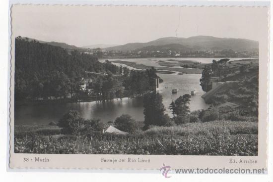 TARJETA POSTAL DE MARIN PAISAJE DEL RIO LEREZ PONTEVEDRA (Postales - España - Galicia Moderna (desde 1940))