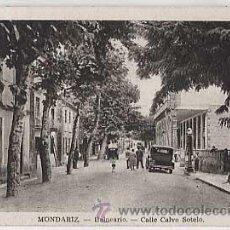 Postais: PONTEVEDRA. MONDARIZ. BALNEARIO CALLE CALVO SOTELO. L. ROISIN, FOT. CIRCULADA. Lote 21049555