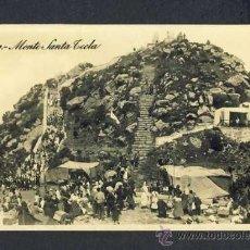 Postales: POSTAL DE VIGO (PONTEVEDRA): MONTE DE SANTA TECLA (ED.ALSINA) (ANIMADA). Lote 15036152