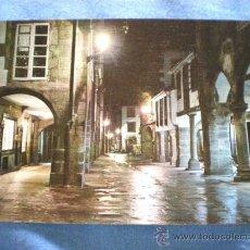 Postales: POSTAL SANTIAGO DE COMPOSTELA RUA DEL VILLAR NOCTURNA NO CIRCULADA. Lote 15603856