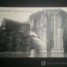 Postales: PONTEVEDRA GALICIA RUINAS DE SANTO DOMINGO POSTAL CIRCULADA CON SELLO. Lote 15935628